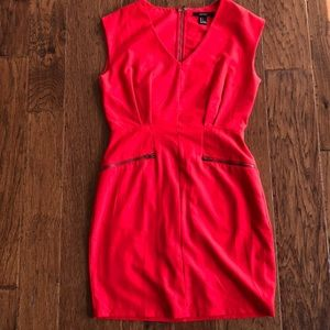 Red Forever 21 dress with zippers